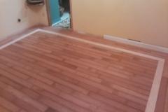Cherry Floor with Custom Maple Accent