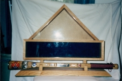 Display Flag Case with Bully Stick Holder