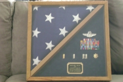 Square Retirement Flag Case
